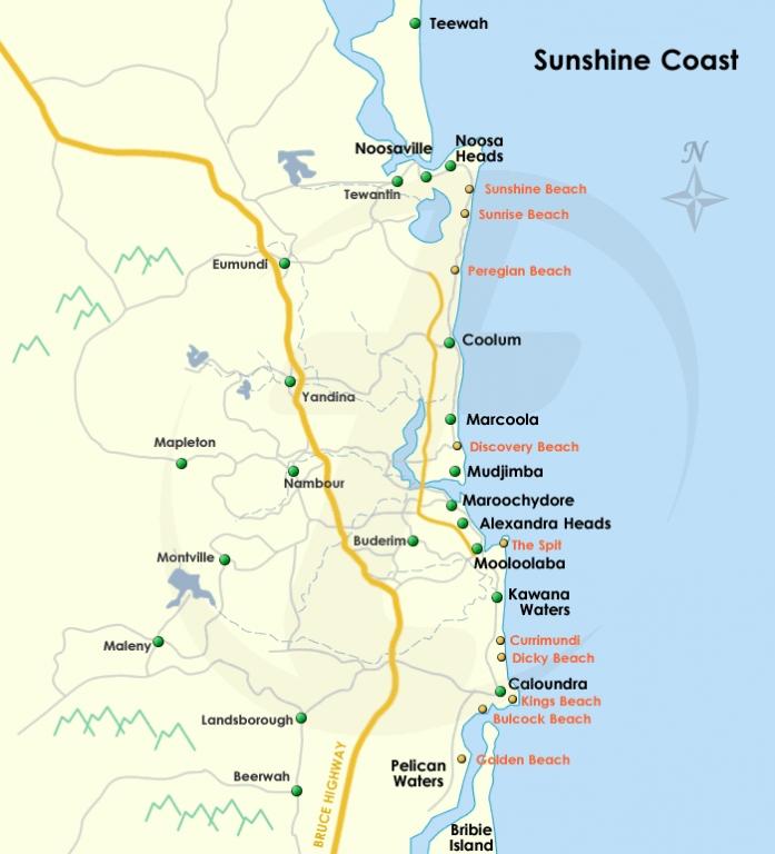 Sunshine Coast Map